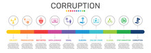 Corruption Infographics Vector...