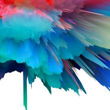 Abstract 3D Explosion Illustra...