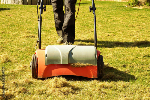 Aeration with a scarifier Canvas-taulu