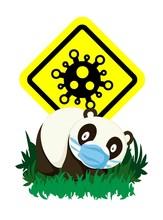 Cute Character Cartoon Panda W...