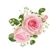 Pink rose flowers in a floral arrangement