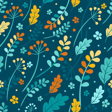 Vector Seamless Autumn Leaves ...