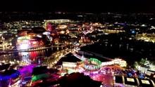 Citywalk By Universal Studios Florida At Night.Illuminated Nighlife. Citywalk By Universal Studios Florida At Night.Illuminated Nighlife Scene.Universal Studios Florida At Night.Illuminated Nighlife