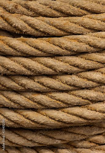 Cuerda vieja de cáñamo, para amarrar el barco Wallpaper Mural