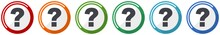Question Mark Icon Set, Flat D...