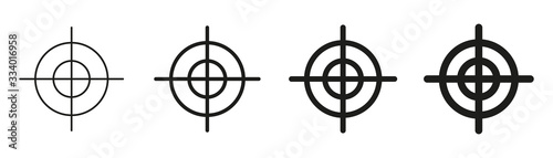Cuadros en Lienzo Focus target vector isolated icons on white background