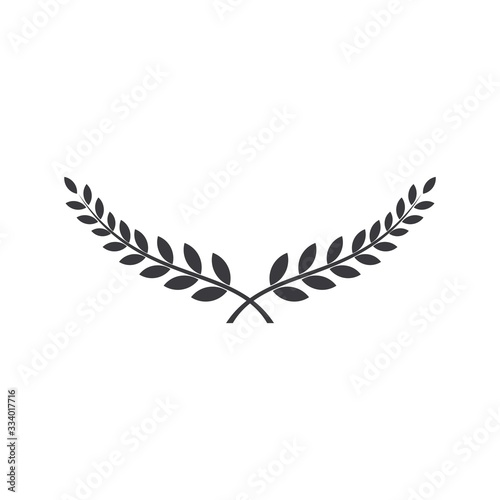 Laurel wreath vector award branch victory icon. Fototapet