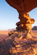 Red Wadi Rum Desert In Jordan