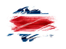 Costa Rica Abstract Flag