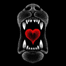 The Vector Logo Dog  Or Wolf F...