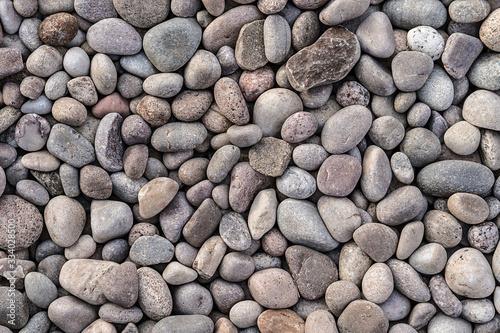 Fotografie, Obraz Seamless uniform neat clean multicolour gravel cobbled stone texture background