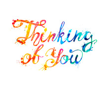 Thinking Of You. Vector Callig...