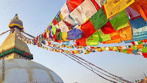Obraz na plátně Beautiful Boudhanath stupa in Kathmandu, Nepal