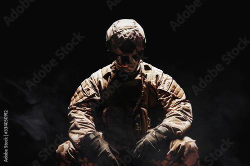 Fotomural Soldier in uniform sitting.