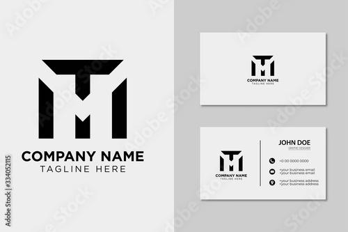 Fototapeta Creative Professional Letter MT TM Logo with business card