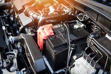 Battery Car Engine Detail Moto...