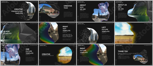Presentation design vector templates, multipurpose template for presentation slide, flyer, brochure cover design, infographic report Canvas Print