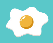 Fried Egg Vector Illustration