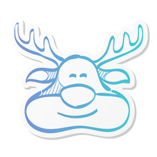 Sticker Style Icon - Rudolph