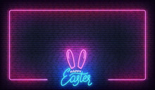 Easter Neon Background. Easter...