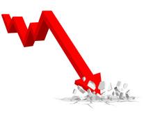 Down Financial Arrows Stock Ma...