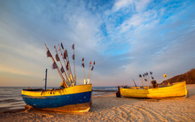 Colorful Fishing Boats On A Sa...