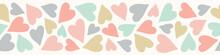 Heart Pattern Banner. Cute Vec...