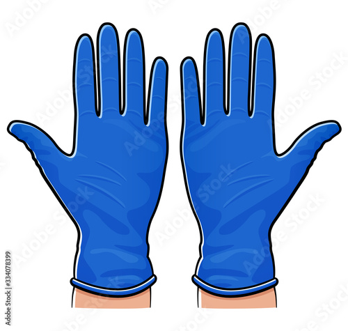Photographie Vector rubber gloves isolated design
