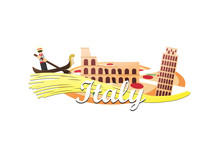 Logo Of Colosseum, Leaning Tow...