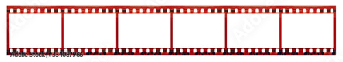 Fotografiet Film strip with copy space blank picture frames for photo isolated on white back