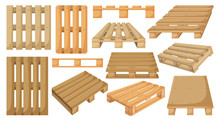 Wooden Pallet Vector Cartoon S...