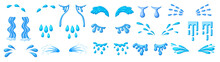Tear Cartoon Vector Set Icon. Isolated Cartoon Set Icon Droplet Of Cry. Vector Illustration Tear On White Background.