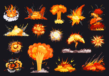 Explosion Vector Cartoon Set I...
