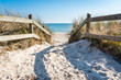 Leinwanddruck Bild - Fantastic beach in Ystad on Österlen in Sweden