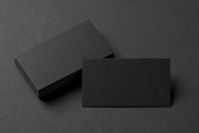 Black Business Cards, Blank Co...