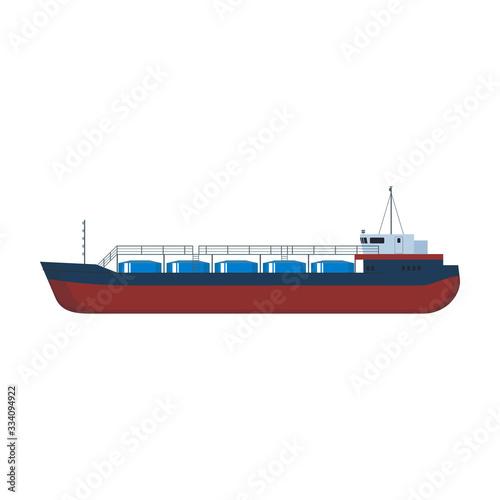 Fényképezés Barge vector icon