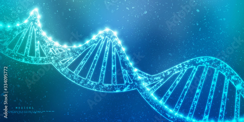 Obraz 2d render of dna structure, abstract background - fototapety do salonu