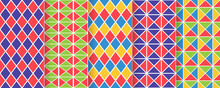 Harlequin Seamless Pattern. Ve...