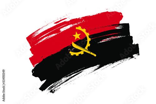 Flag of Republic of Angola Canvas Print