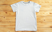 White Color-t-shirt With Copy ...