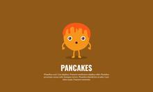 Surprised Shocked Pancake Cartoon Illustration
