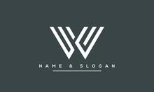 W ,WW  Letter Logo Design With...