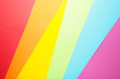 canvas print picture - Colored paper background of lgbt pride concept for design. Top view
