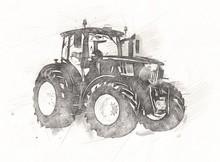 Agricultural Tractor Illustrat...