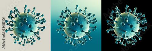 Photo Coronavirus microscopic view