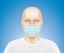 Human Model With Blue Medical ...