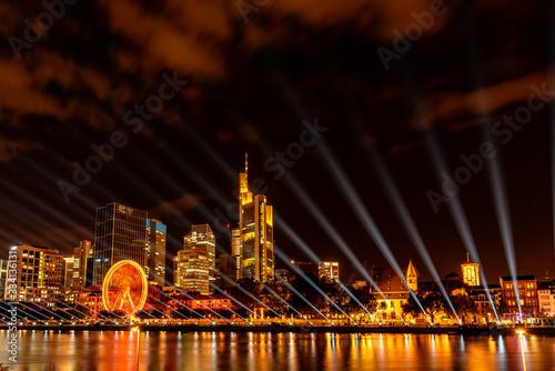 Lichtspektakel in Frankfurt am Main Canvas Print