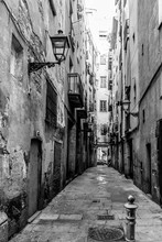 Gothic Quarter In Barcelona City, Catalonia, Spain.