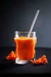 fresh carrot juice in the glass