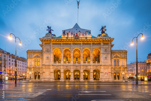 The Vienna State Opera in Austria. Canvas Print